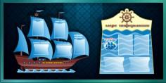 Стенды для детского сада кораблик